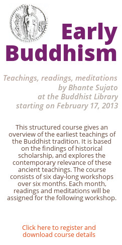 Early Buddhism Course